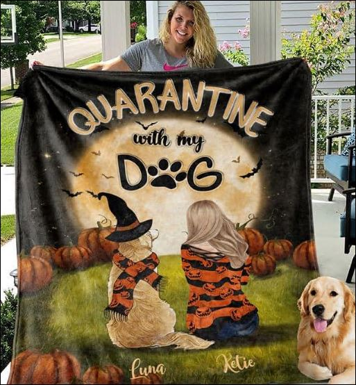 Personalized Halloween quarantine with my dog quilt