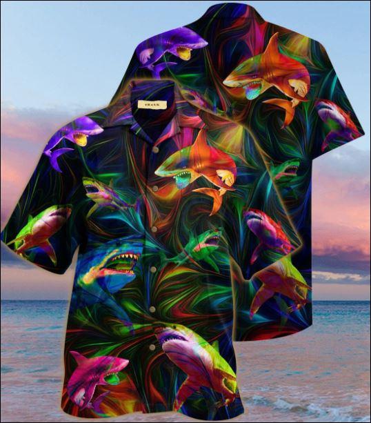 Shark unisex hawaiian shirt