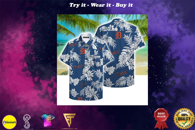 [special edition] detroit tigers aloha tropical full printing hawaiian shirt - Maria