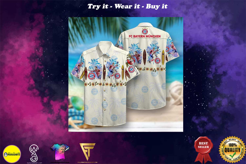 [special edition] fc bayern munich aloha tropical full printing hawaiian shirt - Maria