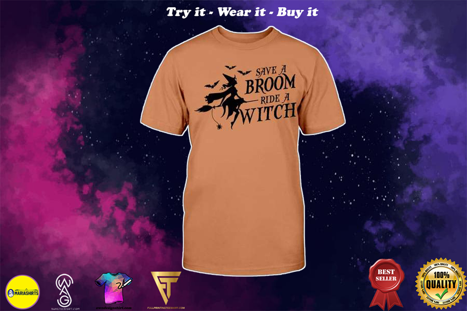[special edition] halloween save a broom ride a witch shirt - Maria