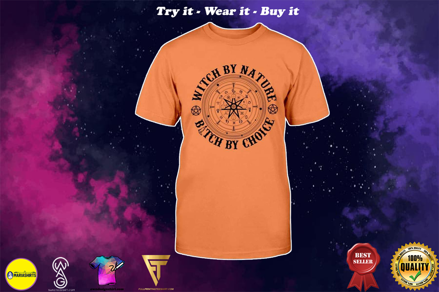 [special edition] halloween witch by nature bitch by choice shirt - Maria