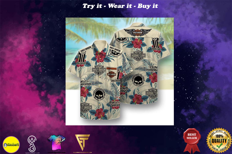 [special edition] harley-davidson motor company full printing hawaiian shirt - Maria