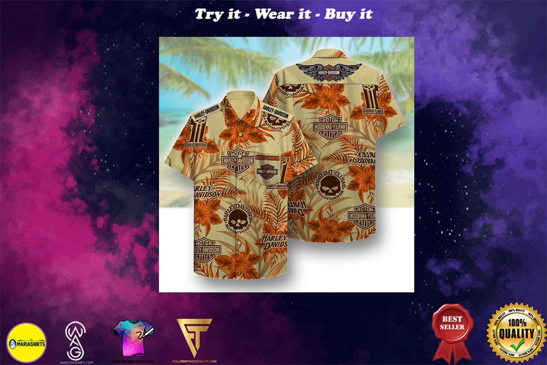[special edition] harley-davidson symbol pattern beach hawaiian shirt - Maria