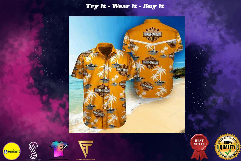 [special edition] harley-davidson tropical full printing hawaiian shirt - Maria