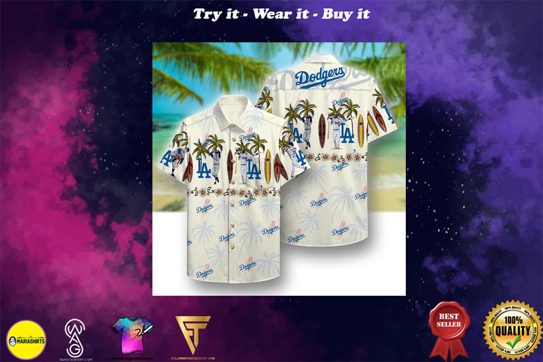 [special edition] los angeles dodgers aloha tropical full printing hawaiian shirt - Maria