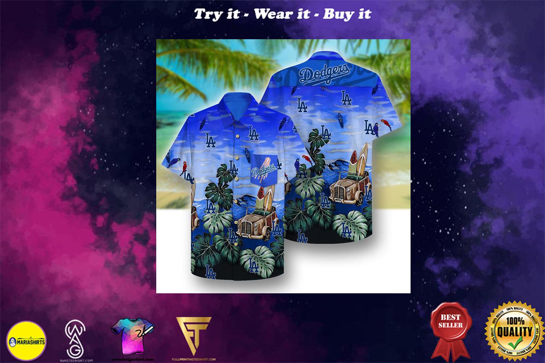 [special edition] los angeles dodgers full printing hawaiian shirt - Maria