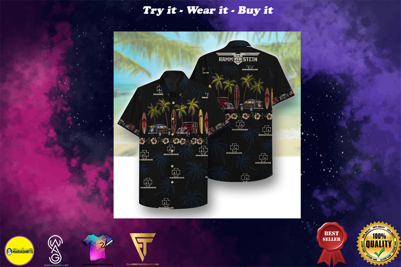 [special edition] rammstein beach full printing hawaiian shirt - Maria