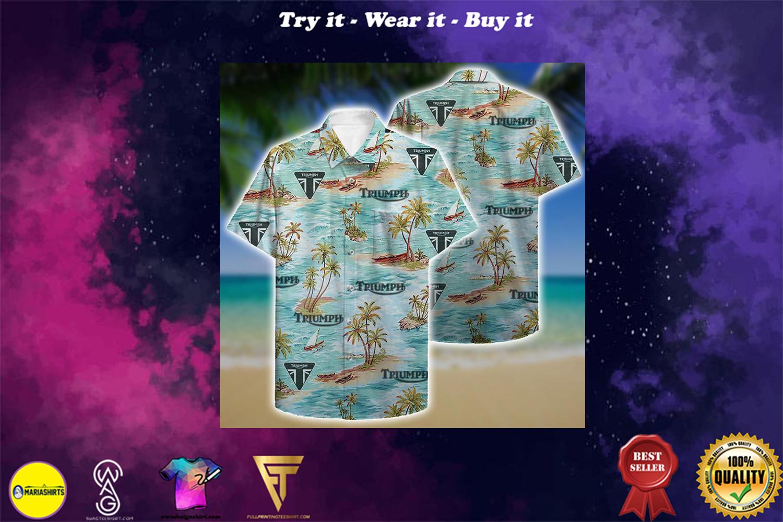 [special edition] triumph aloha tropical full printing hawaiian shirt - Maria