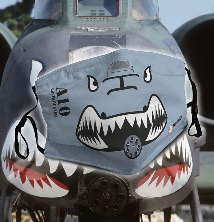 A-10 Thunderbolt II - Covid busters face mask