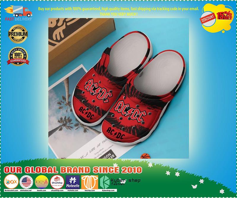 AC DC croc shoes - LIMITED EDITION