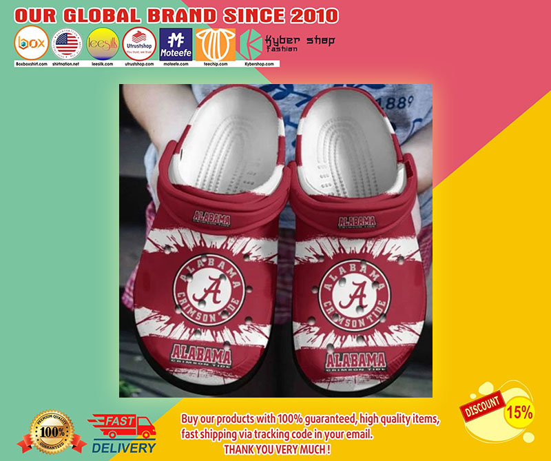Alabama crimson tide crocband crocs shoes1