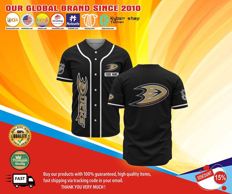 Anaheim ducks baseball jersey shirt 1