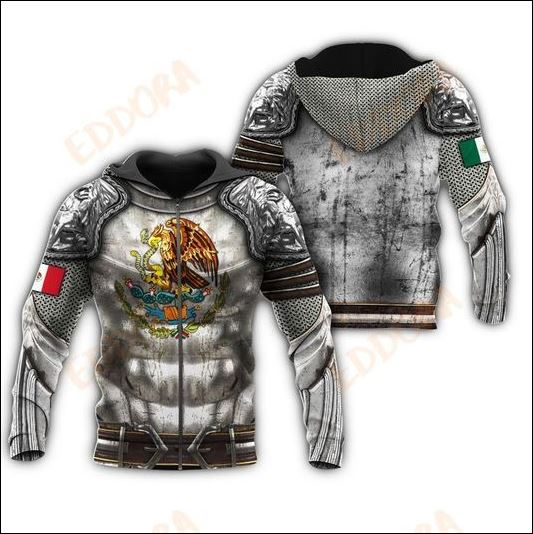 Armour Mexican 3D all over printed zip hoodie