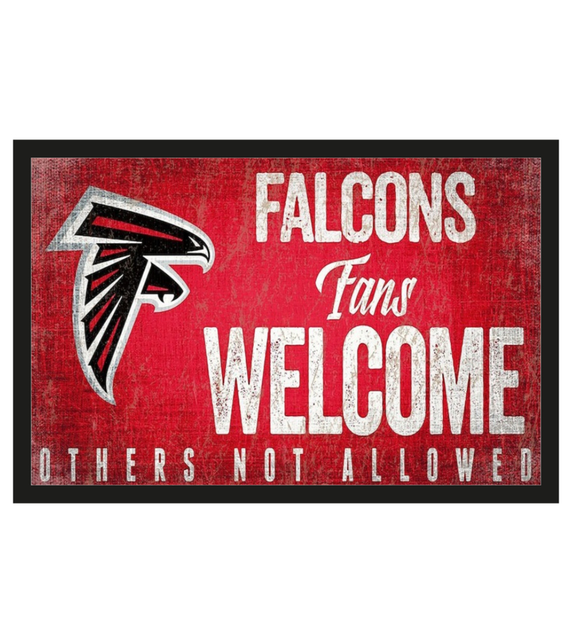 Atlanta Falcons fans welcome others not allowed 1