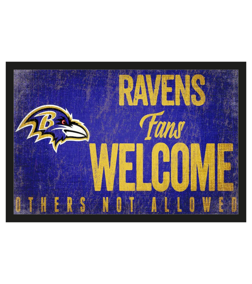 Baltimore Ravens fans welcome others not allowed 1