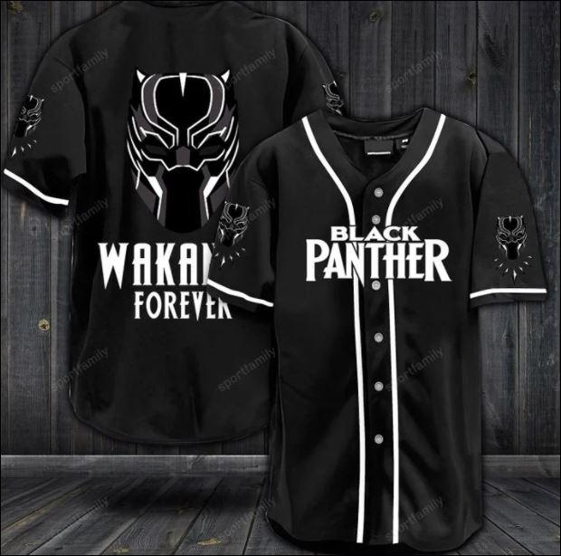 Black panther wakanda forever baseball shirt
