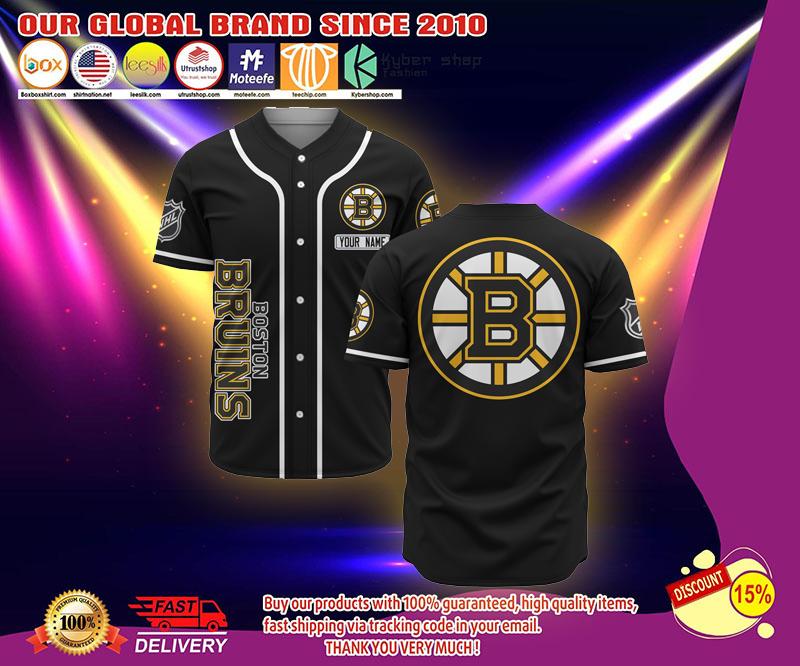 Boston Bruins custome personalized name baseball jersey shirt - LIMITED EDITION