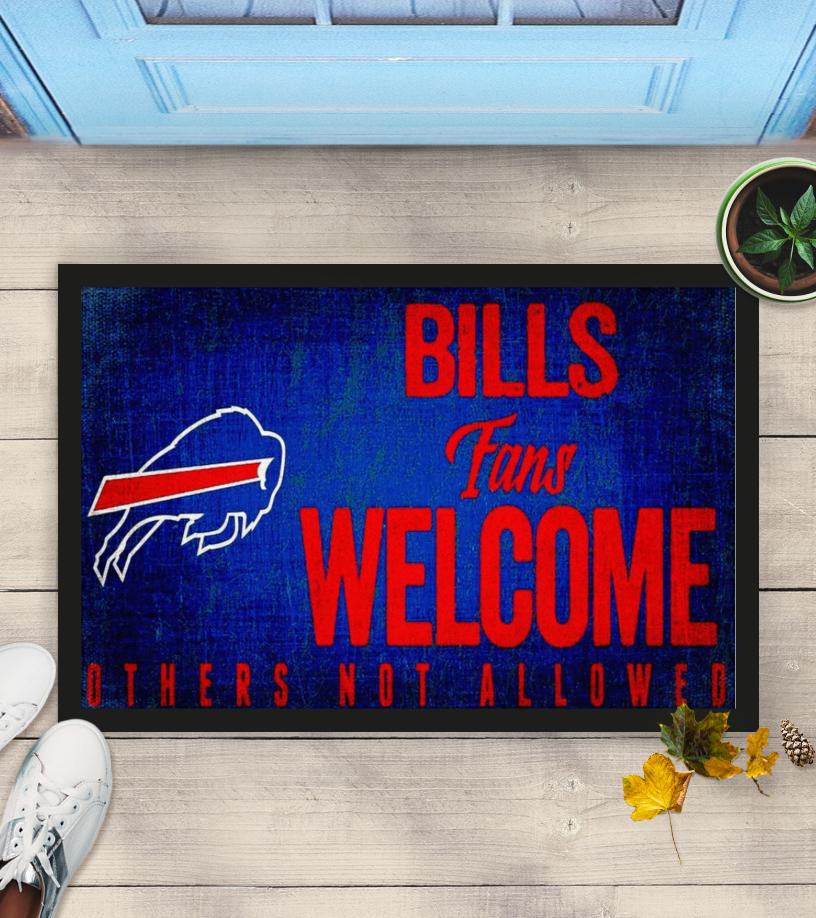 Buffalo bills fans wellcome others not allowed doormat ad