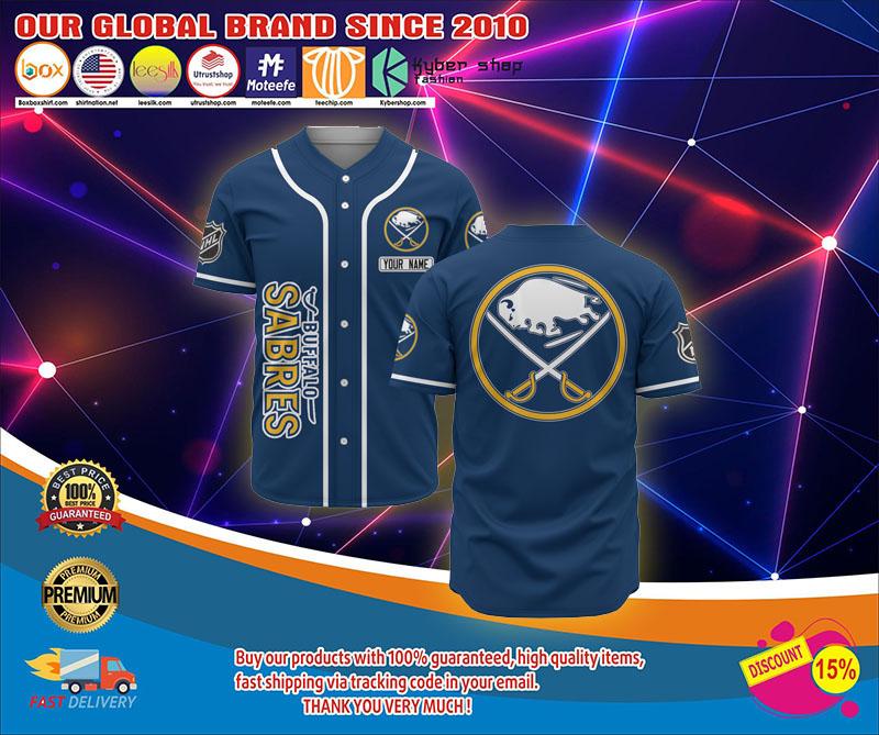 Buffalo sabres baseball jersey shirt 1