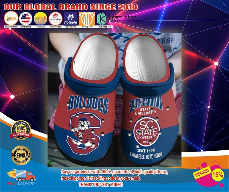 Bulldog south carolina state university crocs shoes1