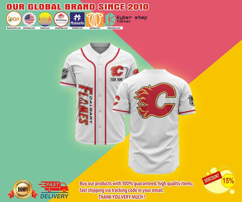 Calgary flames baseball jersey shirt