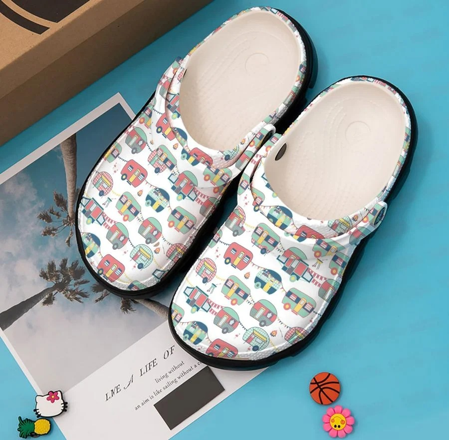 Camper pattern crocband crocs shoes - LIMITED EDITION