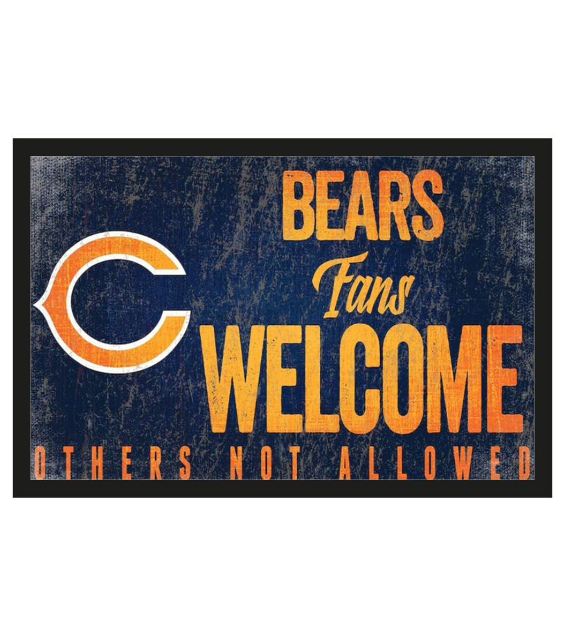 Chicago Bears fans welcome others not allowed doormat 1