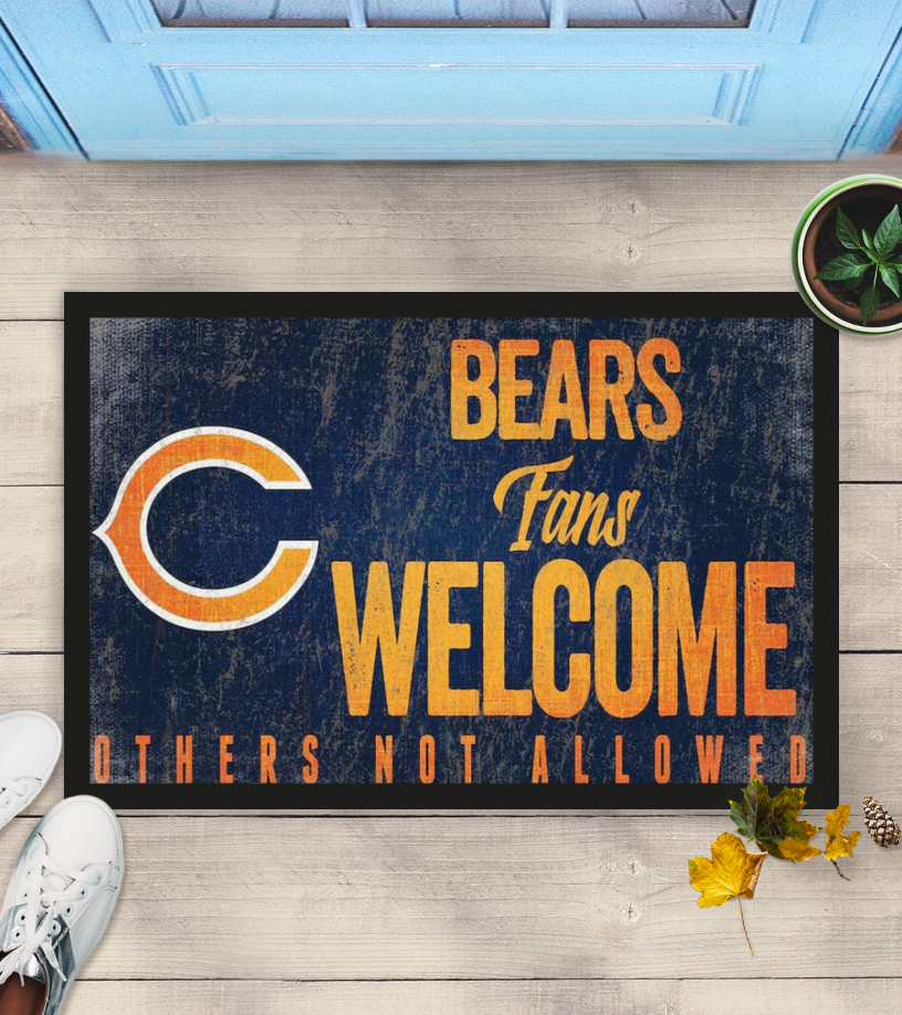 Chicago Bears fans welcome others not allowed doormat
