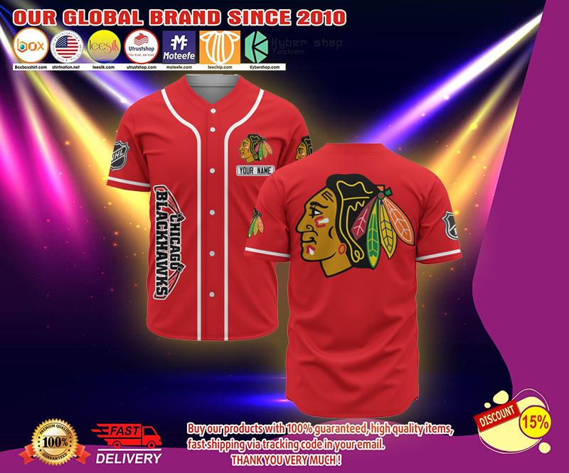 Chicago Blackhawks custome personalized name baseball jersey shirt