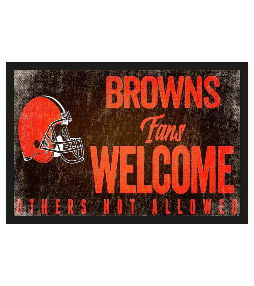 Cleveland Browns fans welcome others not allowed doormat 1