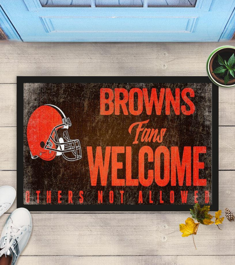 Cleveland Browns fans welcome others not allowed doormat