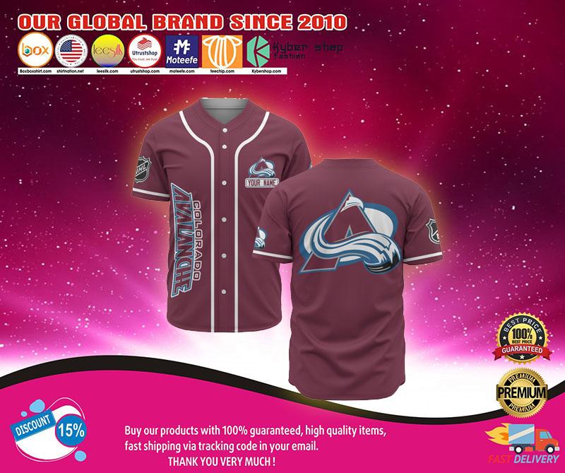 Colorado avalanche baseball jersey shirt