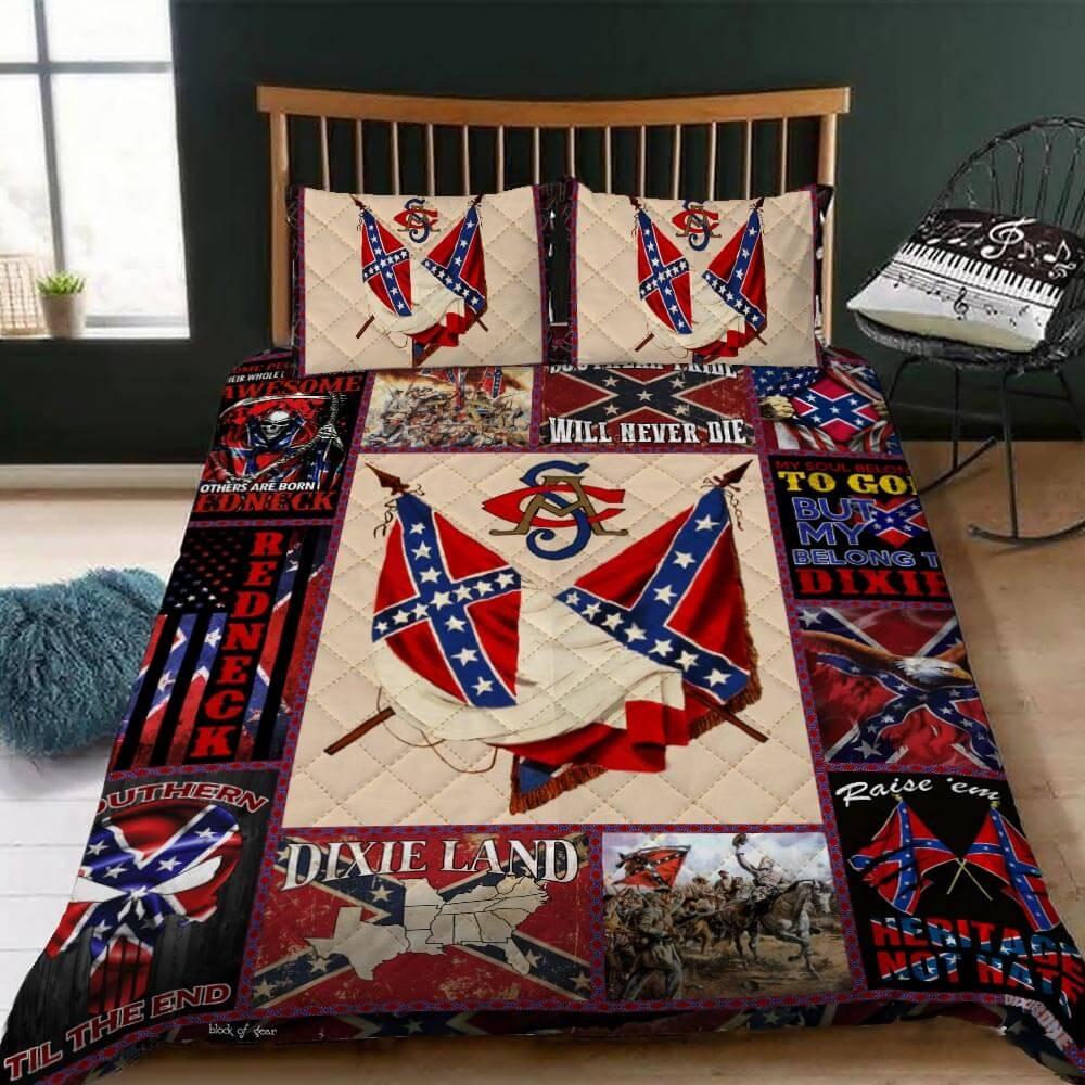 Confederate American History Quilt Bedding Set 1