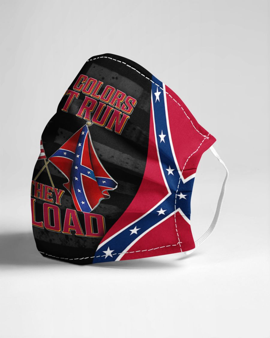 Confederate flag these colors don't run they reload face mask 3