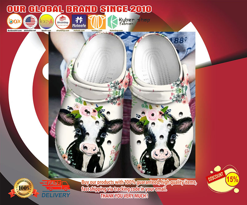 Cow crocband crocs shoes - LIMITED EDITION