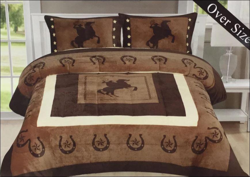 Cowboys and horseshoe bedding set
