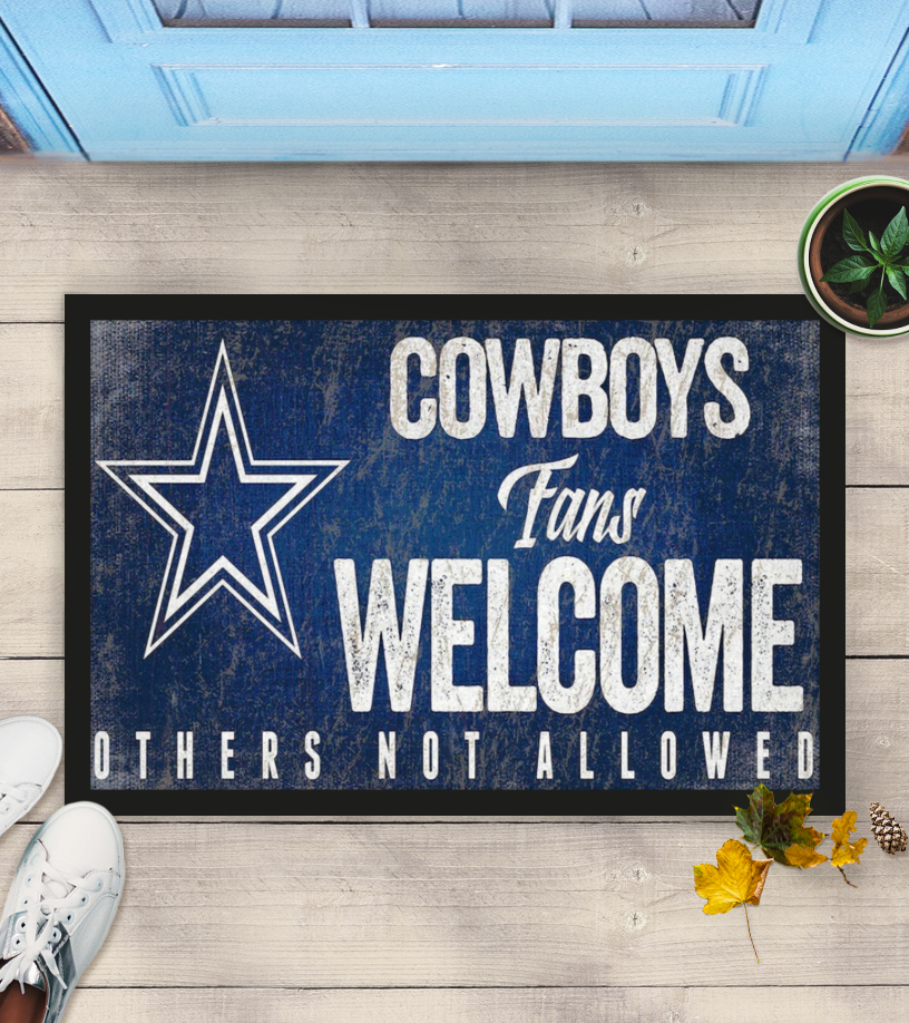 Dallas Cowboys fans welcome others not allowed doormat