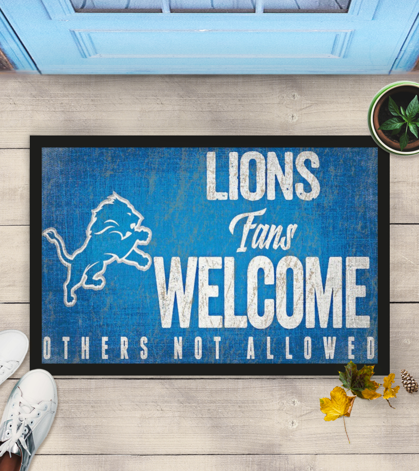 Detroit Lions fans welcome others not allowed doormat