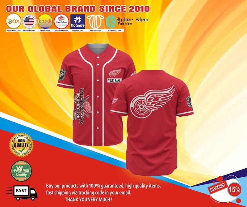 Detroit Red Wings baseball jersey shirt 1