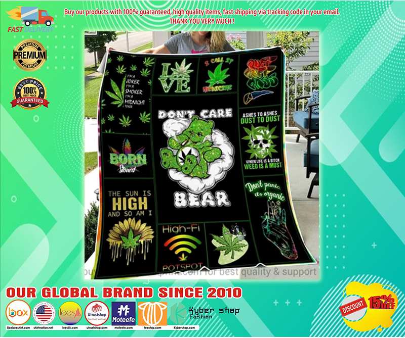 Don't care bear blanket - LIMITED EDITION BBS