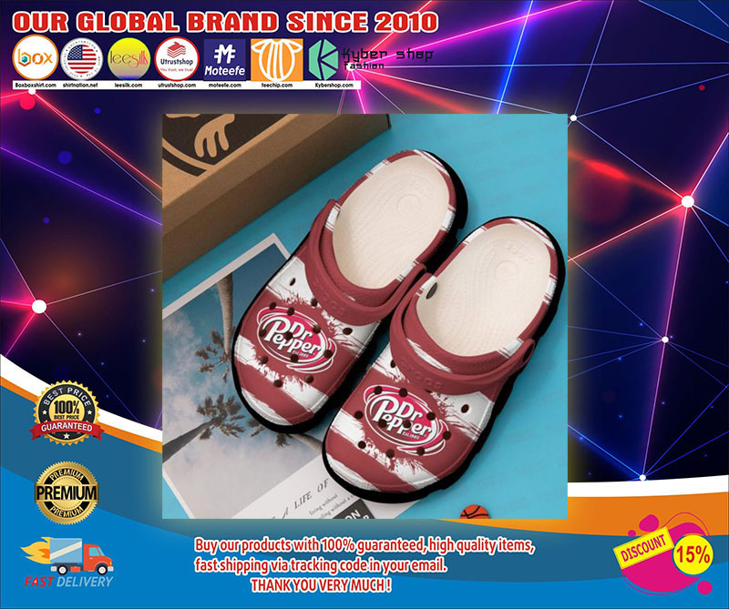 Dr pepper crocs shoes