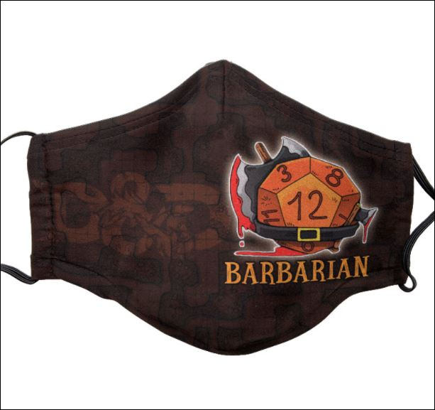 Dungeons And Dragons Barbarian face mask
