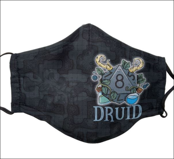 Dungeons And Dragons Druid face mask
