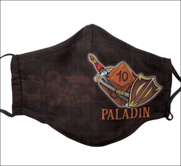 Dungeons And Dragons Paladin face mask