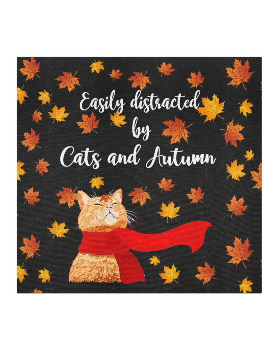 Easily distracted by cats and autumn face mask-2