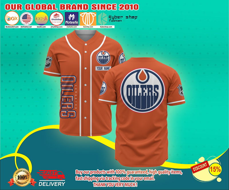 Edmonton Oilers baseball jersey shirt - LIMITED EDITION