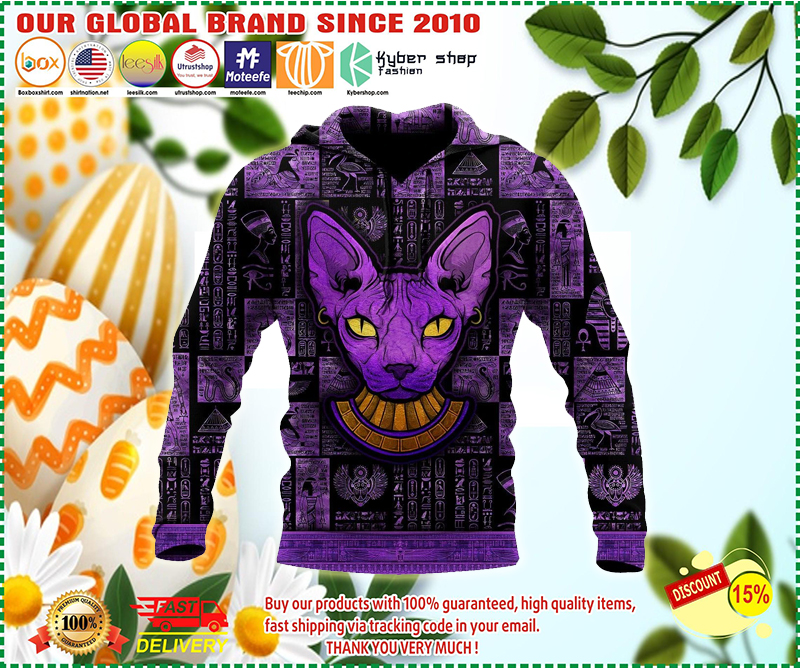 Egyptian sphynx cat hoodie 3D - LIMITED EDITION BBS