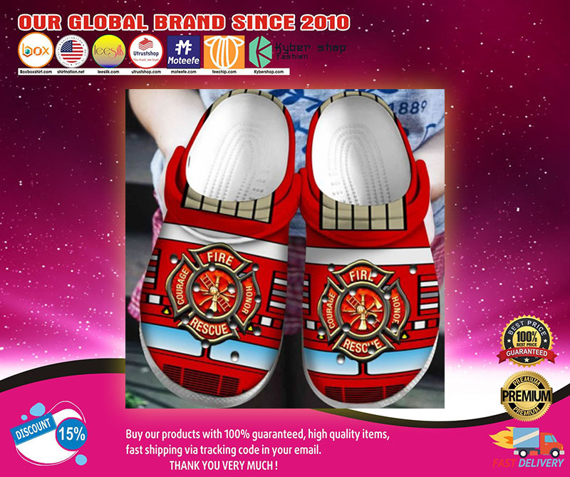 Fire honor rescue courage crocs shoes