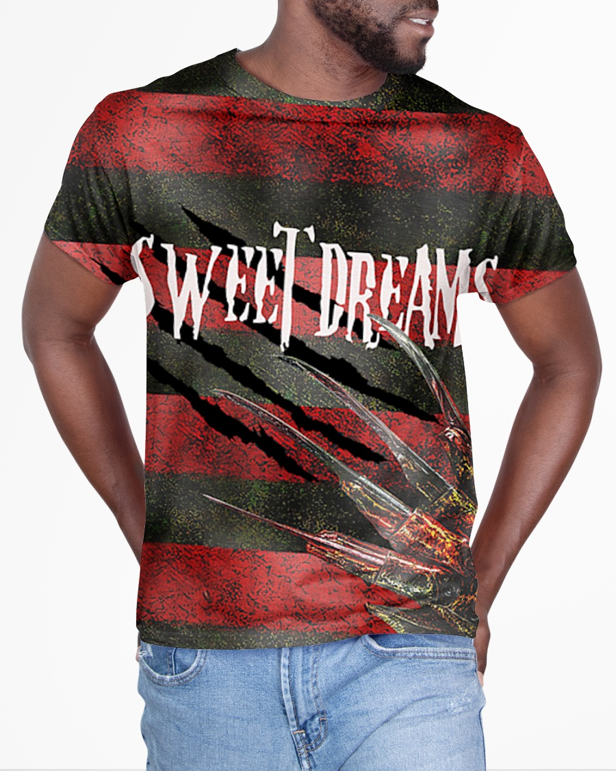 Freddy Krueger sweet dreams one two 3d all over printed t-shirt - Hothot 050920